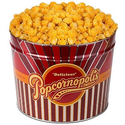 Popcornopolis Gourmet 2 Gallon Tin, Cheddar (DS1372)