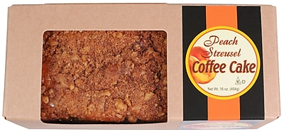 Beatrice Bakery Peach Streusel Coffee Cake Bar (DS0446)