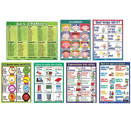 Poster Pals French Essential Classroom Posters Set I (PSZPS56)