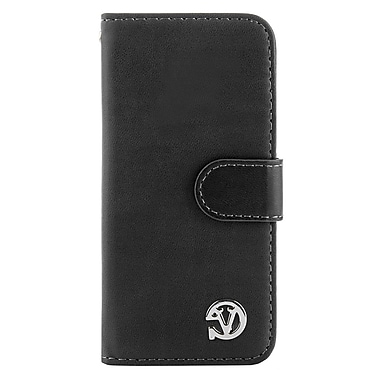 VanGoddy Self Stand Leather Case for iPhone 6 Plus 6s Plus, Black (APLLEA317)