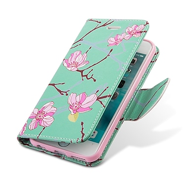 Design Wallet Stand Case for iphone 6s, Japan Flower (APLLEA324)