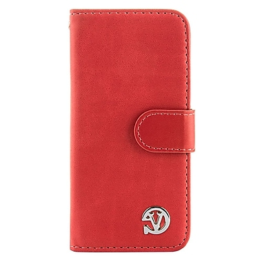 VanGoddy Self Stand Leather Case for iPhone 6 Plus 6s Plus, Pink Red (APLLEA312)