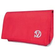 Vangoddy Universal Poly Cellphone Wallet Case, Red (SAMLEA012)
