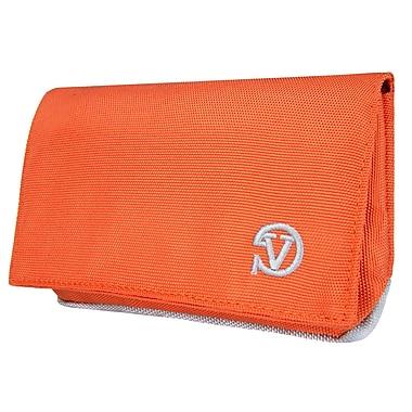 Vangoddy Universal Poly Cellphone Wallet Case, Orange (SAMLEA013)