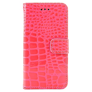 Crocodile Wallet Case for Apple iPhone 6, Rose (APPLEA269)