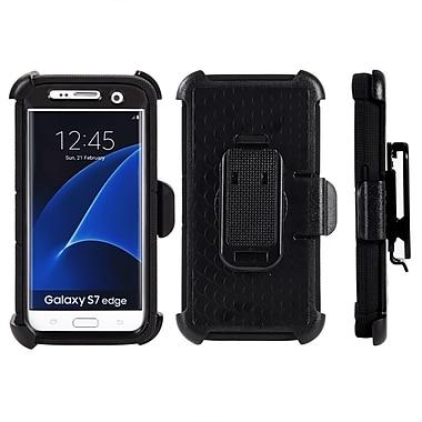 Anti-Shock Hybrid Heavy Duty Holster Case for Galaxy S7 Edge, Black (SAMCRC749)
