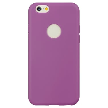 TPU Skin Cover With Built in Screen Protector for Apple iPhone 6 6s, Purple (APLSKN757)
