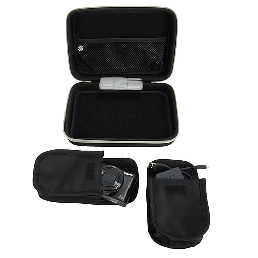 Harlin Durable Hard Cover Cube with Handle and Dual Zipper, Black