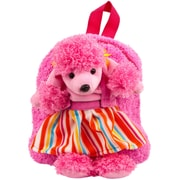 Pink Puppy Plush Doll Removable Animal Backpack for Kids (KIKBKP004)