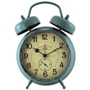 "FirsTime® Teal Double Bell 7"" Tabletop Clock (25681)"