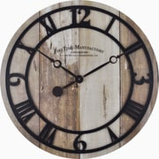 "FirsTime® Faux Barnwood 19"" Wall Clock (25683)"