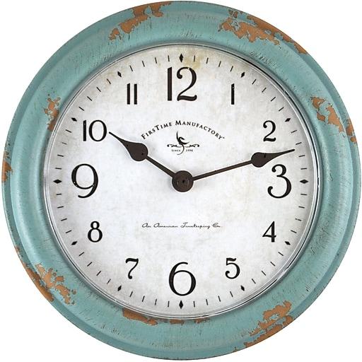 """FirsTime® Teal Patina 8.5"""" Wall Clock (25678)"""