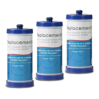 ReplacementBrand 3-Pack Refrigerator Filter for Frigidaire WFCB/WF1CB Refrigerator (RB-F1) 2662597