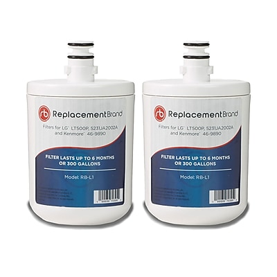 ReplacementBrand 2-Pack Refrigerator Filter for LG LT500P Refrigerator (RB-L1) 2662595