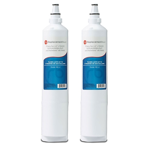 ReplacementBrand 2-Pack Refrigerator Filter for LG LT600P Refrigerator (RB-L2)