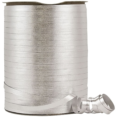 JAM Paper® Curling Ribbon, 250 yard spool, Silver, 12/pack (PL117201b)