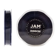 JAM Paper® Double Faced Satin Ribbon, 3/8 inch Wide x 25 yards, Navy Blue, Sold Individually (803SAnav25)