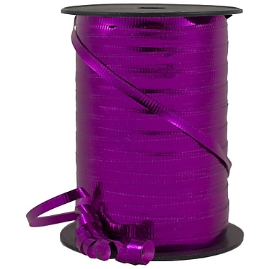 JAM Paper® Curling Ribbon, 250 yard spool, Fuchsia, 12/pack (01072804b)