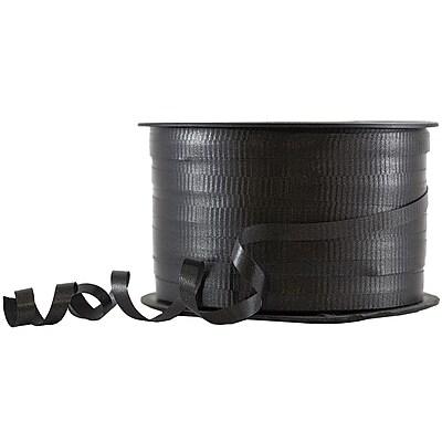JAM Paper® Curling Ribbon, 90 yard spool, Black, 12/pack (310716097b)