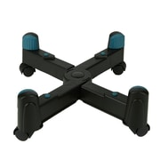 Mind Reader Small CPU Holder with Wheels, Adjustable Width Mobile Stand, Lockable Wheels, Black (CHEAPU-BLK)