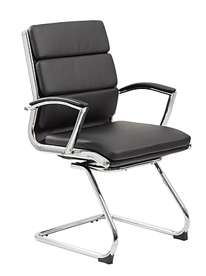 Boss Executive CaressoftPlus™ Guest Chair with Metal Chrome Finish (B9479-BK)