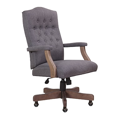 BOSS Exec Chair - Slate Grey Linen (B905DW-SG)