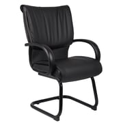 Boss Mid Back Black LeatherPlus Guest Chair (B9709)