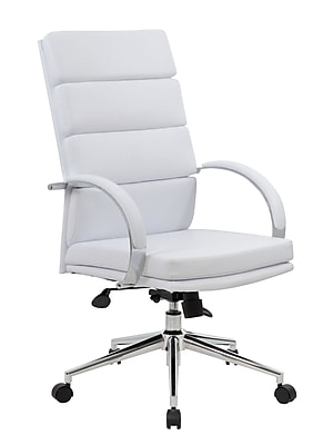 BOSS® Caresoft Plus Executive Series High Back Executive Chair; White