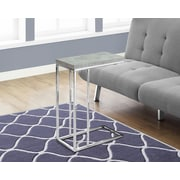Monarch Specialties Accent Table Grey Cement Look (I 3372)