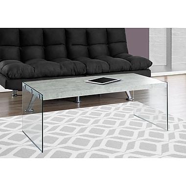 Monarch Specialties Coffee Table Grey (I 3230)