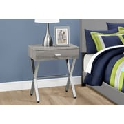 Monarch Specialties Accent Table Night Stand Dark Taupe (I 3263)