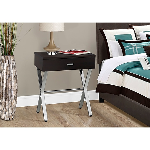 Monarch Specialties Accent Table Night Stand Cappuccino (I 3265)