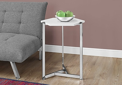 Monarch Specialties Accent Table Glossy White (I 3275)
