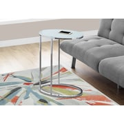 Monarch Specialties Accent Table Frosted Glass Chrome (I 3240)