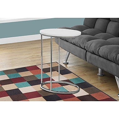 Monarch Specialties Accent Table Glossy White (I 3246)