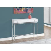 Monarch Specialties Accent Table Glossy White (I 2443)