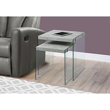 Monarch Specialties Nesting Table Grey (I 3231)