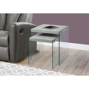 Monarch Specialties Nesting Table Grey (I 3231)
