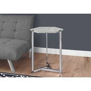 Monarch Specialties Accent Table Grey Cement Look (I 3277)