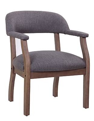 Boss Modern Captain's Chair in Slate Grade Commercial Grade Linen (B9540DW-SG)