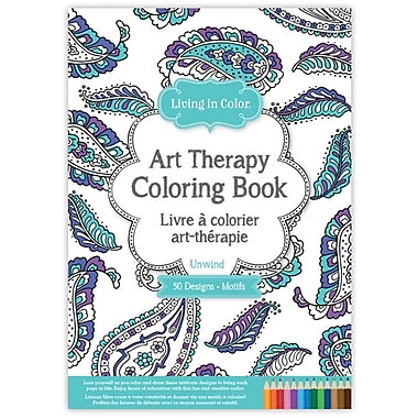 Living In Color Art Therapy Coloring Book-Unwind (LIC610-B)