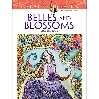 Dover Publications-Creative Haven: Belles And Blossoms (DOV-80588)