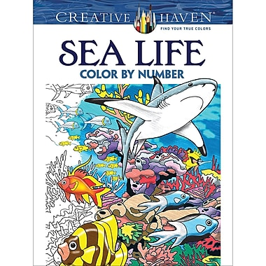 Dover Publications-Creative Haven: Sea Life (DOV-79795)