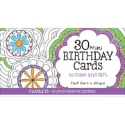 Coloring Cafe Mini Birthday Coloring Cards 30/Pkg- (CQ2601)