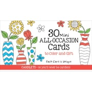 Coloring Cafe Mini All Occasion Coloring Cards 30/Pkg- (CQ2602)