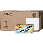 BIC Mark It Permanent Marker, Fine Point, Black, 12 Markers/Pack, 18 Packs/Carton (GPM11-BLK)