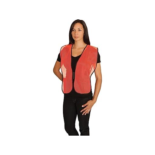 PIP Hook & Loop Safety Vest, Non-ANSI, One Size, Hi-Vis Orange (300-0800OR)