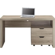 "Whalen 55"" Laminate Workstation Desk, Gray (SPUS-MDRS)"