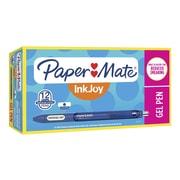 Paper Mate® InkJoy® Retractable Gel Pens, Medium Point, Blue Ink, Dozen (1951721)