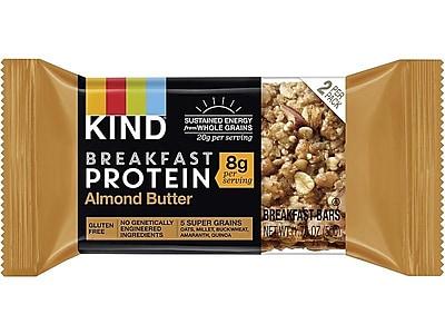 KIND® Breakfast Protein Bar, Almond Butter, 1.76 Oz., 8/Box (PHW25953)